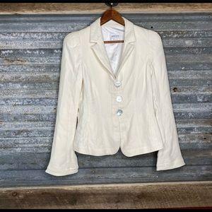 Armani Collezioni ivory blazer jacket